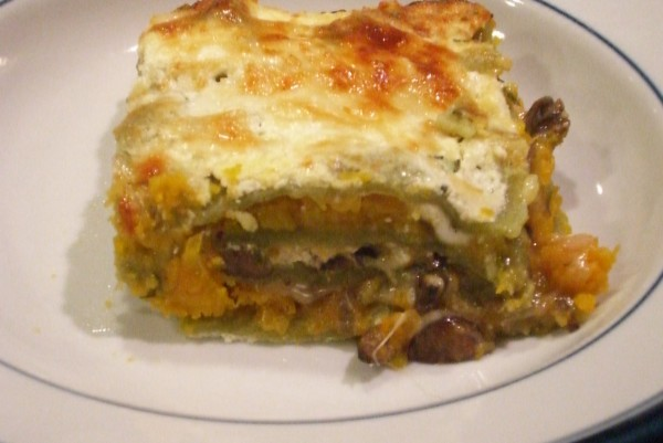 BUTTERNUT SQUASH, ROSEMARY, AND GARLIC LASAGNE